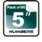 "5"" Race Numbers - 100 pack"